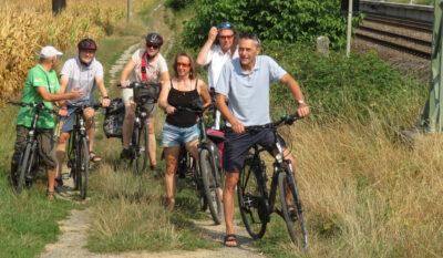 Grüne Fraktion auf Radtour